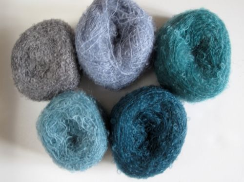 Adele's mohair shawl kit - Mountain lakes -NEW